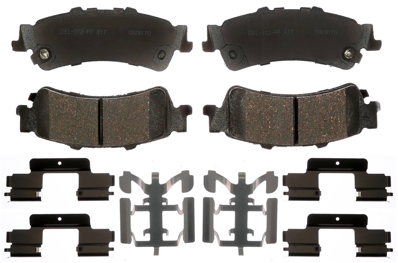 ACDELCO GOLD/PROFESSIONAL BRAKES - Ceramic Disc Brake Pad (Rear) - ADU 17D792CHF1