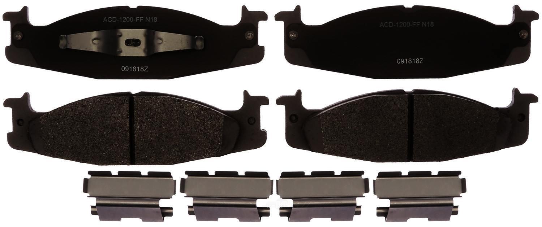 ACDELCO SILVER/ADVANTAGE - Semi-Metallic (Front) - DCD 14D632MH