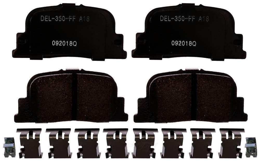 ACDELCO GOLD/PROFESSIONAL BRAKES - Ceramic Disc Brake Pad (Rear) - ADU 17D835CH