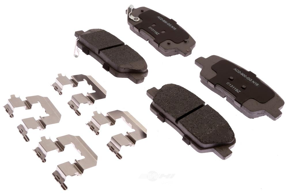 ACDELCO SILVER/ADVANTAGE - Ceramic Disc Brake Pad (Rear) - DCD 14D1284CHF1