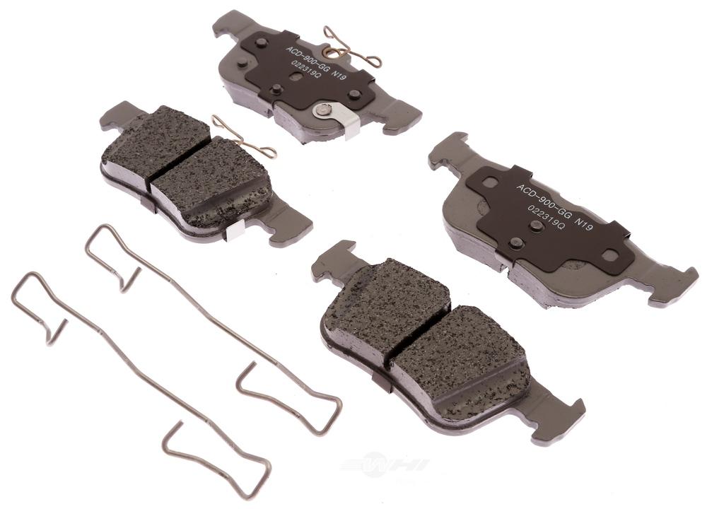 ACDELCO SILVER/ADVANTAGE - Ceramic Disc Brake Pad (Rear) - DCD 14D1665CH