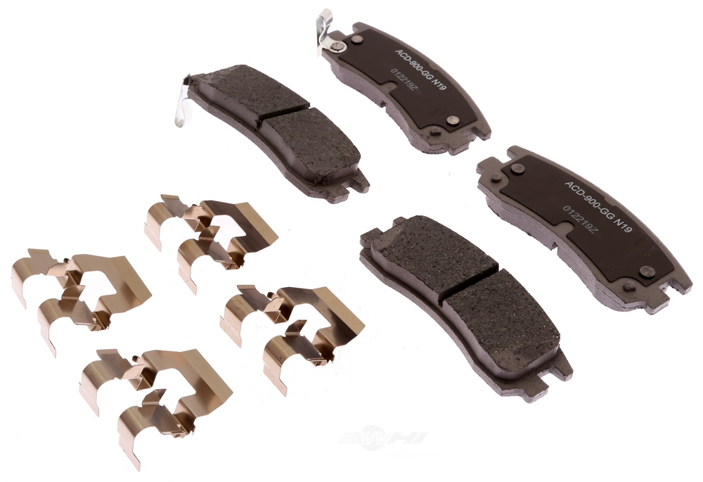 ACDELCO SILVER/ADVANTAGE - Ceramic Disc Brake Pad (Rear) - DCD 14D698CHF1