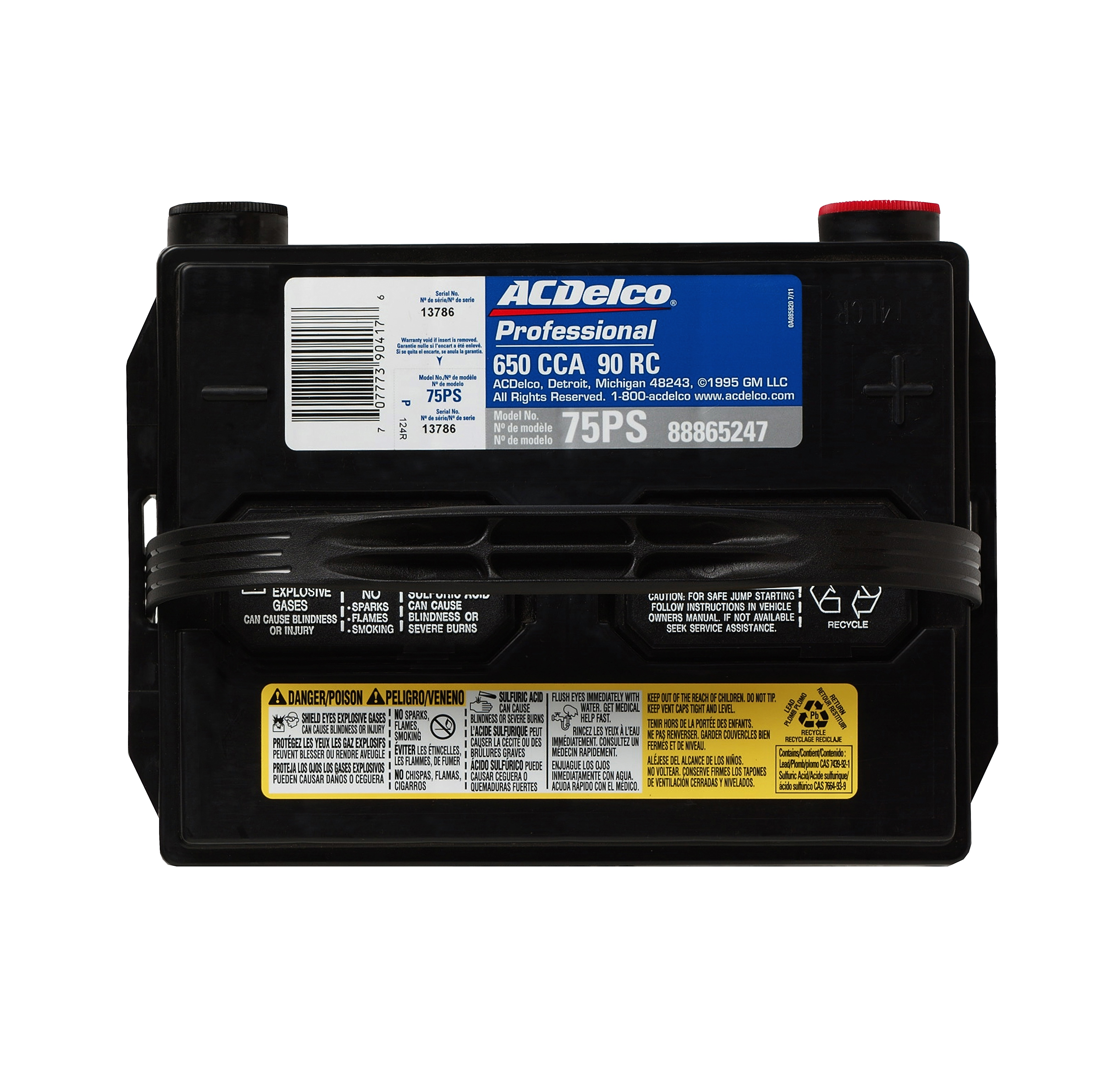 Acdelco Professional 650 Cca 30 Mo Full Wty 75ps