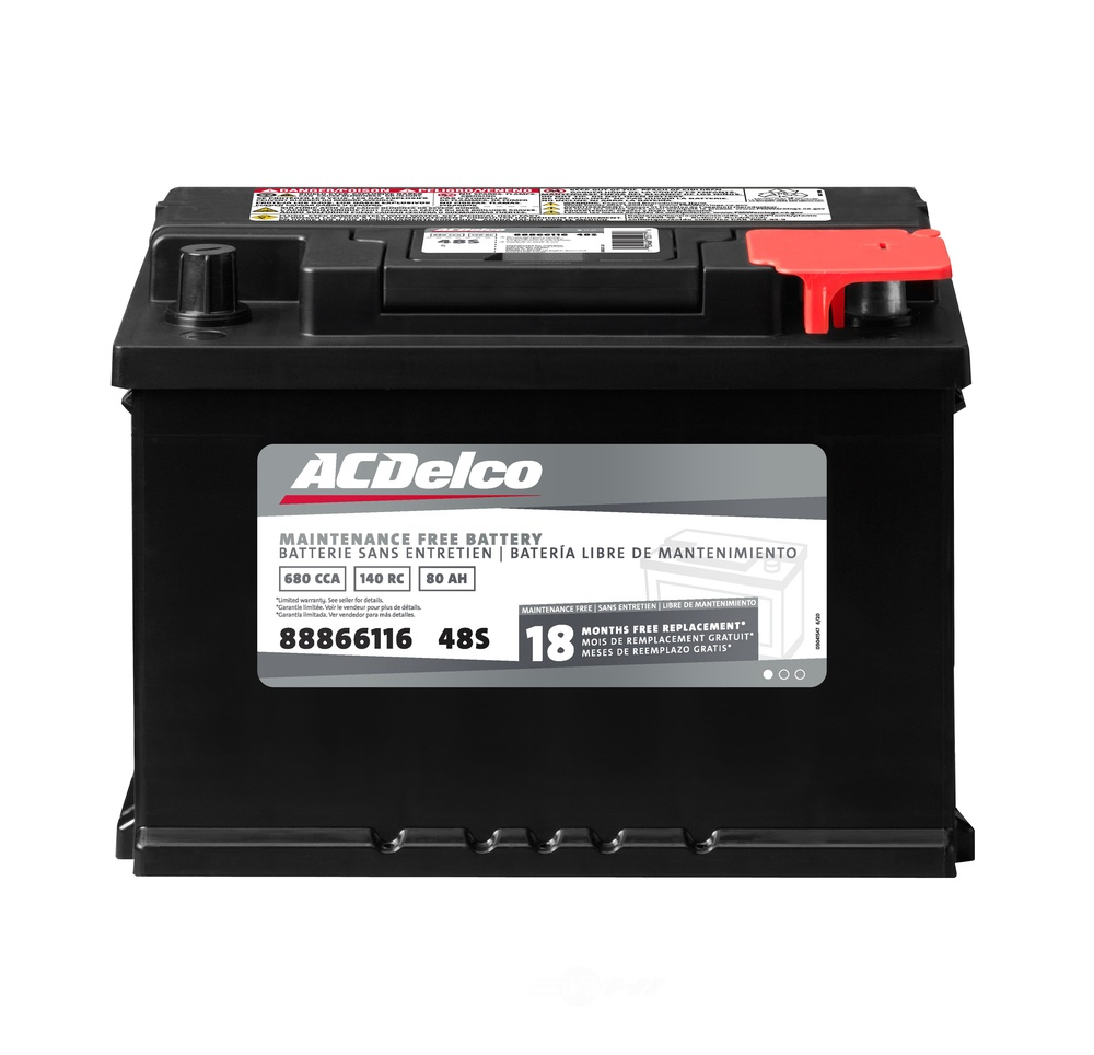 ACDELCO SILVER/ADVANTAGE - Vehicle Battery - DCD 48S
