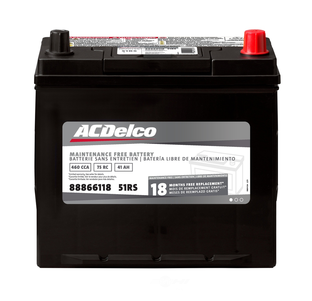 ACDELCO SILVER/ADVANTAGE - 18 Month Warranty - DCD 51RS