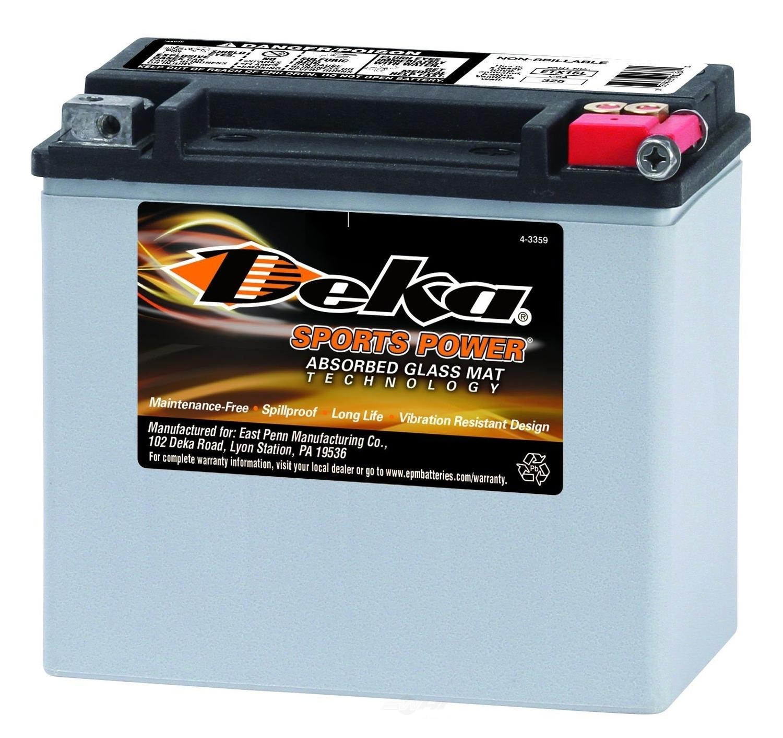 DEKA - Power Sports AGM Valve Regulated Battery - DEK ETX16L