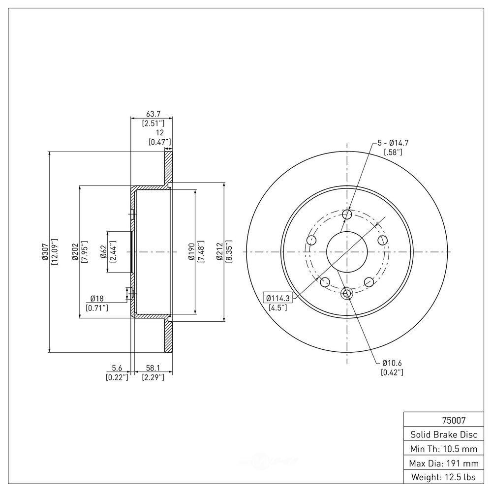DFC - Premium Rotors (Rear) - DF1 600-75007