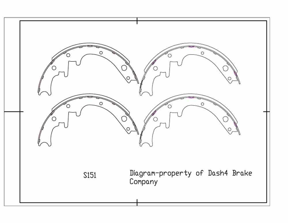 DASH 4 BRAKES - Dash4 Drum Brake Shoe - DFB B151