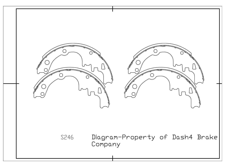 DASH 4 BRAKES - Dash4 Drum Brake Shoe - DFB B246