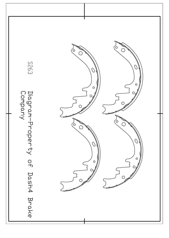 DASH 4 BRAKES - Dash4 Drum Brake Shoe - DFB B263