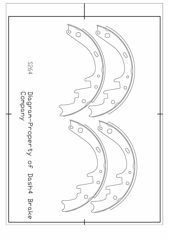 DASH 4 BRAKES - Dash4 Drum Brake Shoe - DFB B264