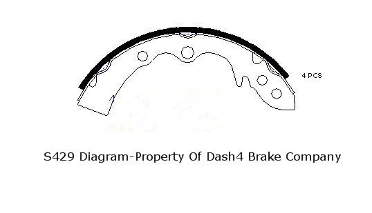 DASH 4 BRAKES - Dash4 Drum Brake Shoe - DFB B429