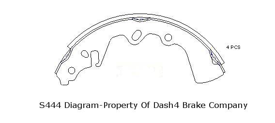 DASH 4 BRAKES - Dash4 Drum Brake Shoe - DFB B444
