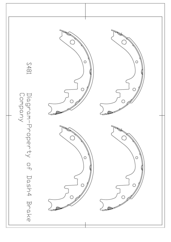 DASH 4 BRAKES - Dash4 Drum Brake Shoe - DFB B481