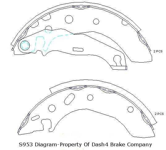 DASH 4 BRAKES - Dash4 Drum Brake Shoe - DFB B953