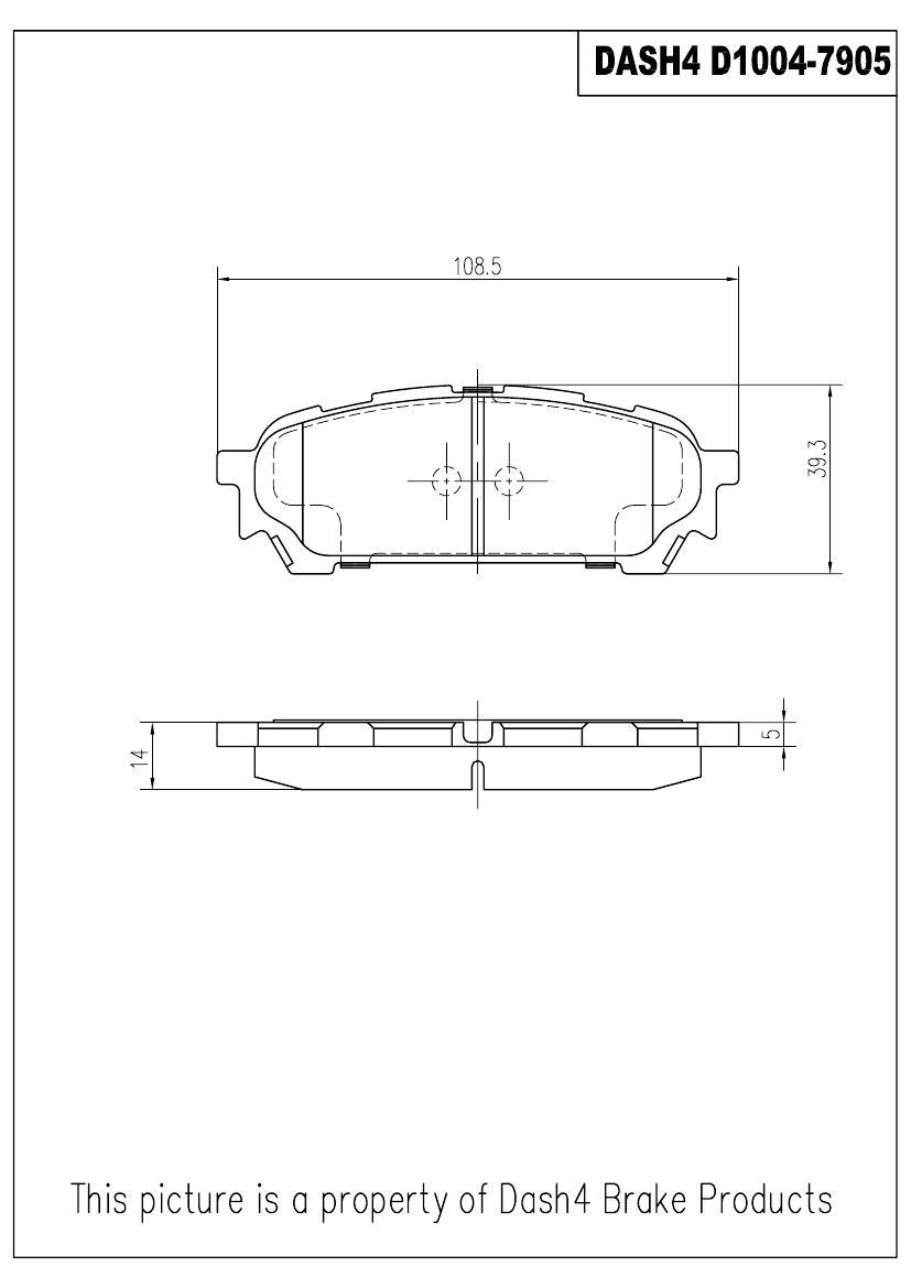 DASH 4 BRAKES - Semi Metallic Pads - DFB MD1004