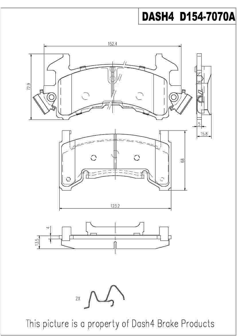 DASH 4 BRAKES - Semi Metallic Pads - DFB MD154