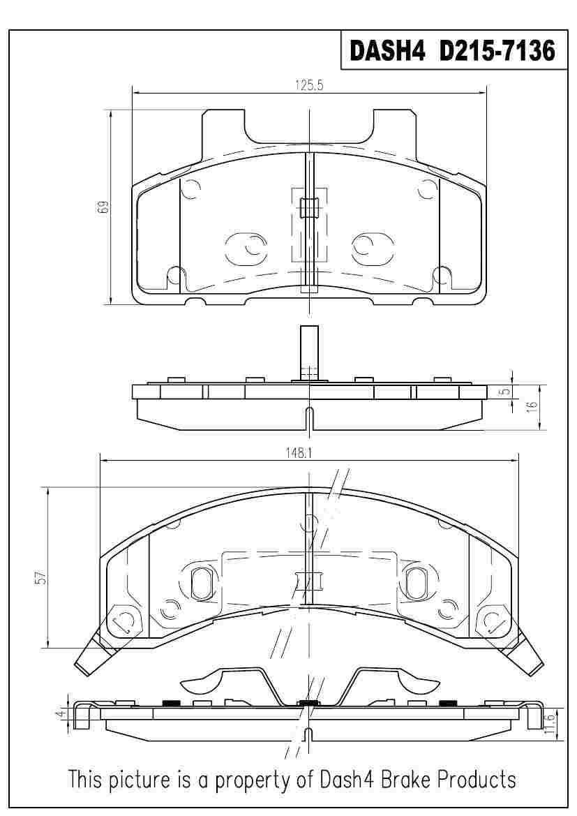 DASH 4 BRAKES - Semi Metallic Pads - DFB MD215