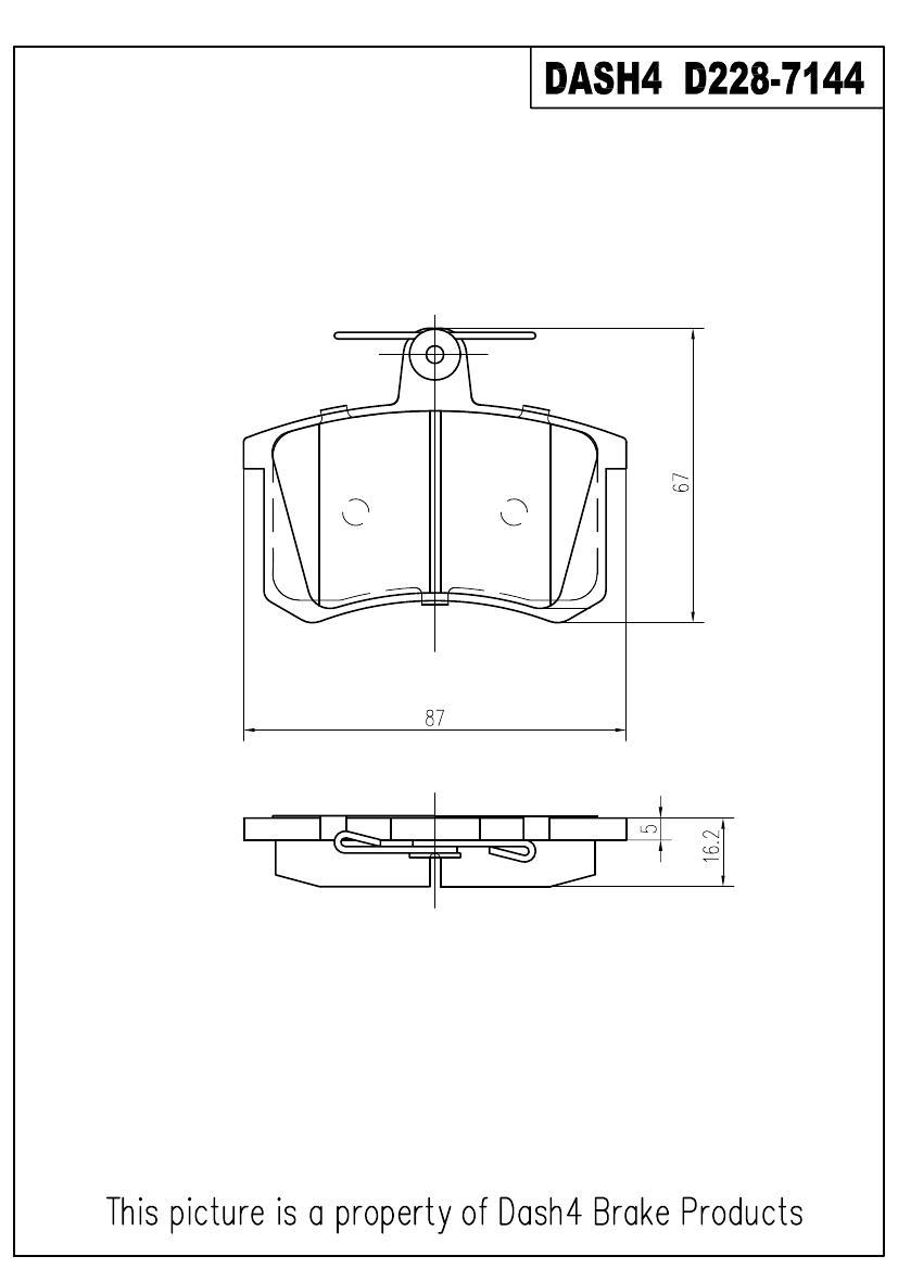 DASH 4 BRAKES - Semi Metallic Pads - DFB MD228