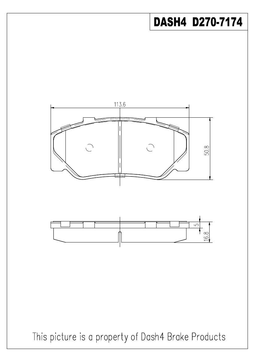 DASH 4 BRAKES - Semi Metallic Pads - DFB MD270