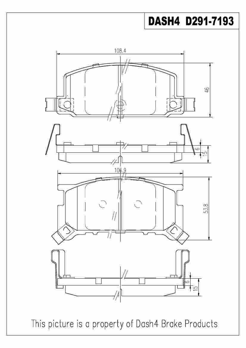 DASH 4 BRAKES - Semi Metallic Pads - DFB MD291