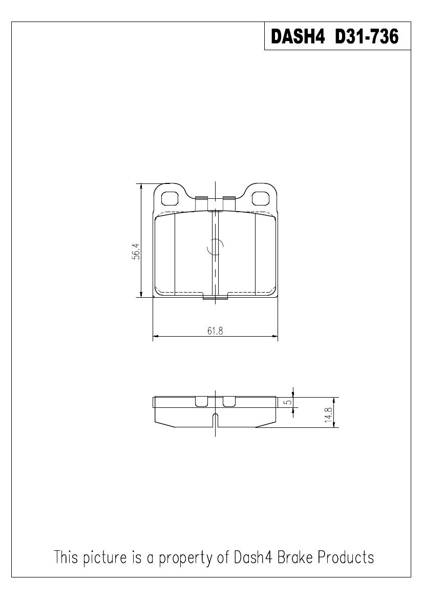 DASH 4 BRAKES - Semi Metallic Pads - DFB MD31