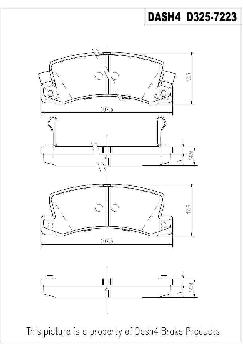 DASH 4 BRAKES - Semi Metallic Pads - DFB MD325