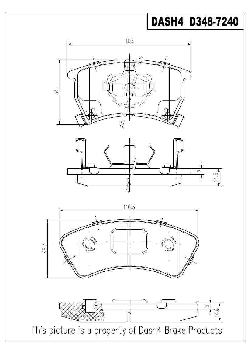 DASH 4 BRAKES - Semi Metallic Pads - DFB MD348