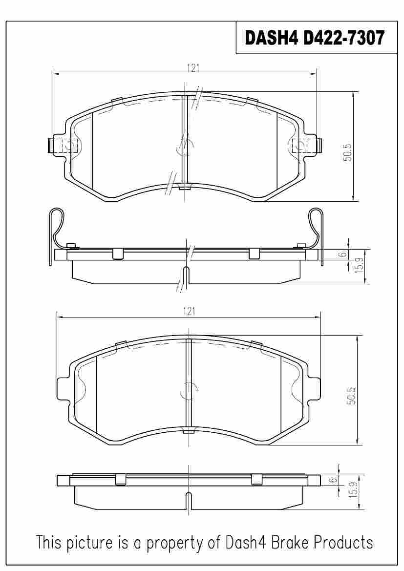 DASH 4 BRAKES - Semi Metallic Pads - DFB MD422