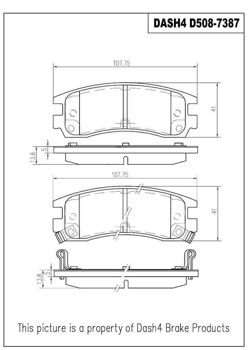 DASH 4 BRAKES - Semi Metallic Pads - DFB MD508