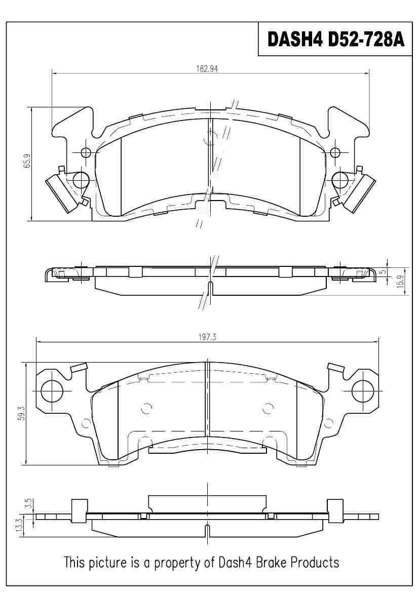 DASH 4 BRAKES - Semi Metallic Pads - DFB MD52
