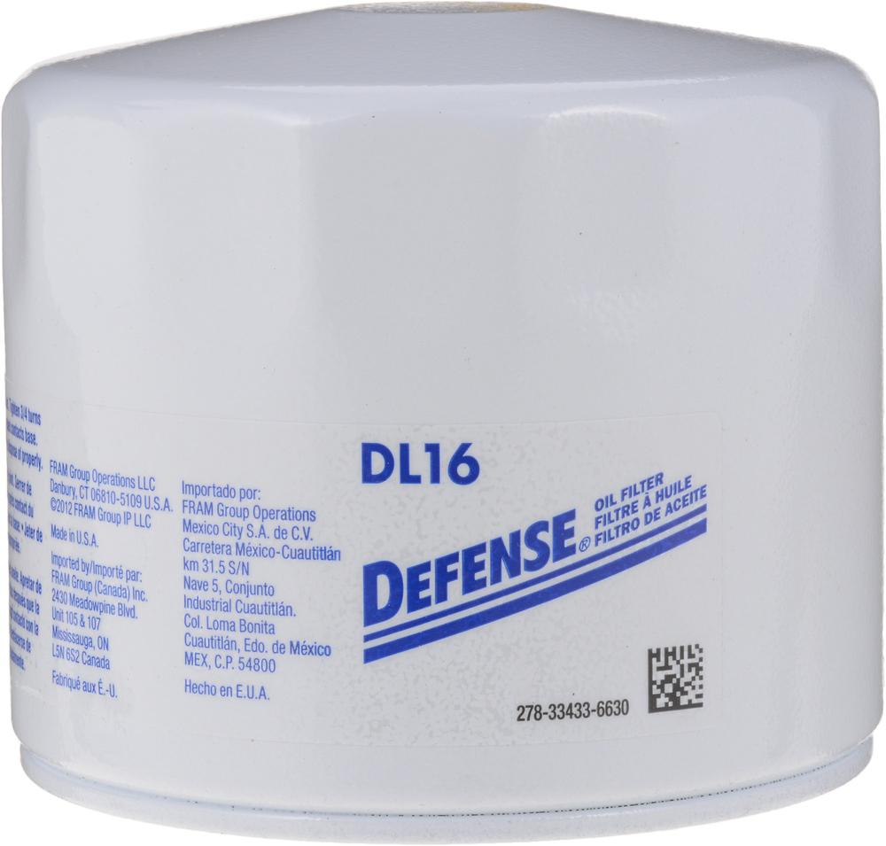DEFENSE FILTERS (FRAM) - Engine Oil Filter - DFN DL16