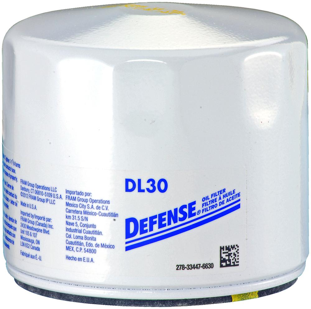 DEFENSE FILTERS (FRAM) - Engine Oil Filter - DFN DL30