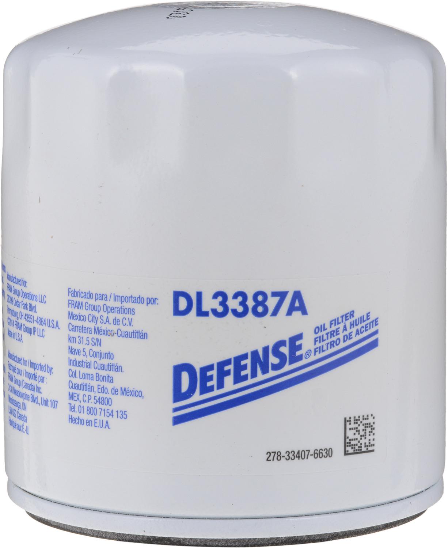 DEFENSE FILTERS (FRAM) - Engine Oil Filter - DFN DL3387A