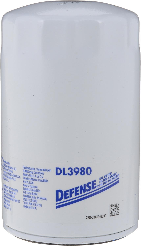 DEFENSE FILTERS (FRAM) - Engine Oil Filter - DFN DL3980