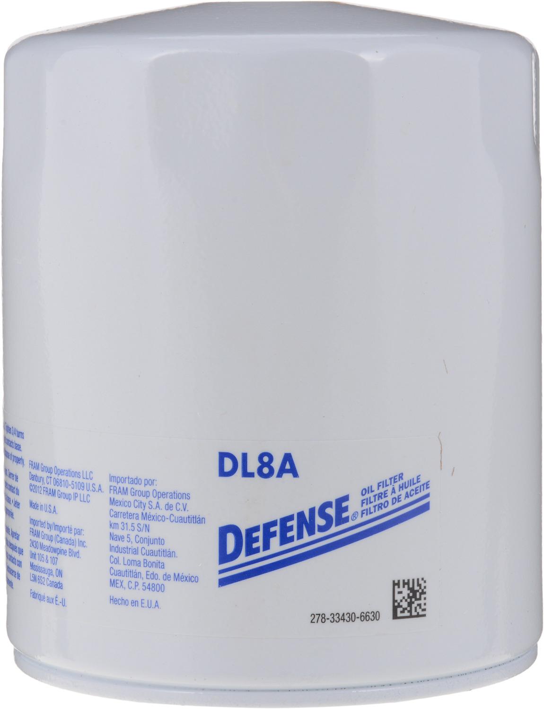 DEFENSE FILTERS (FRAM) - Engine Oil Filter - DFN DL8A