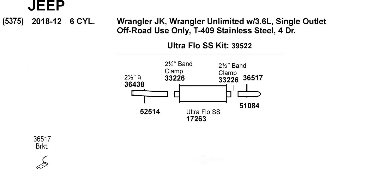 Walker Exhaust 36517