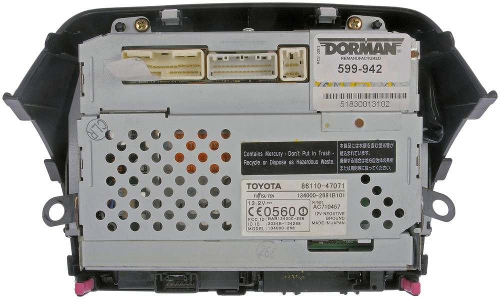 DORMAN OE SOLUTIONS - Touch Screen Infotainment Display - DRE 599-942