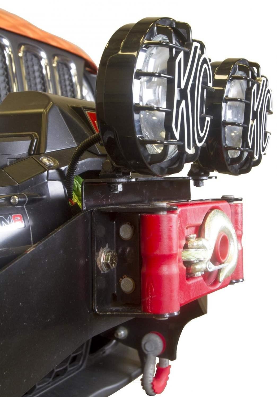 DAYSTAR - Winch Bumper Light Bracket - DST KJ50002BK