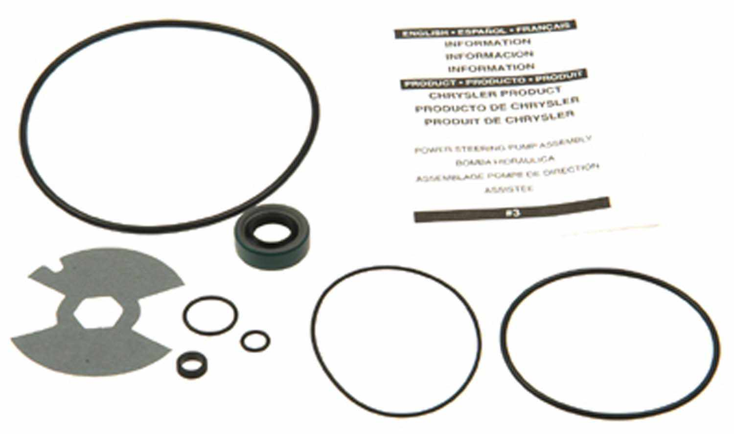 PARTS MASTER/EDELMANN - Power Steering Pump Drive Shaft Seal Kit - PSA 8708