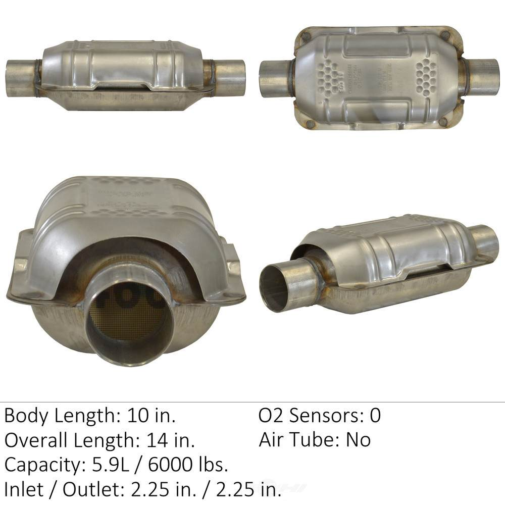 EASTERN CATALYTIC EPA CONVERTER - Universal Catalytic Converter - EMI 70317