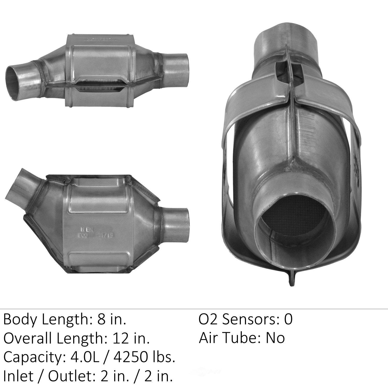 EASTERN CATALYTIC EPA CONVERTER - Universal Catalytic Converter - EMI 70342