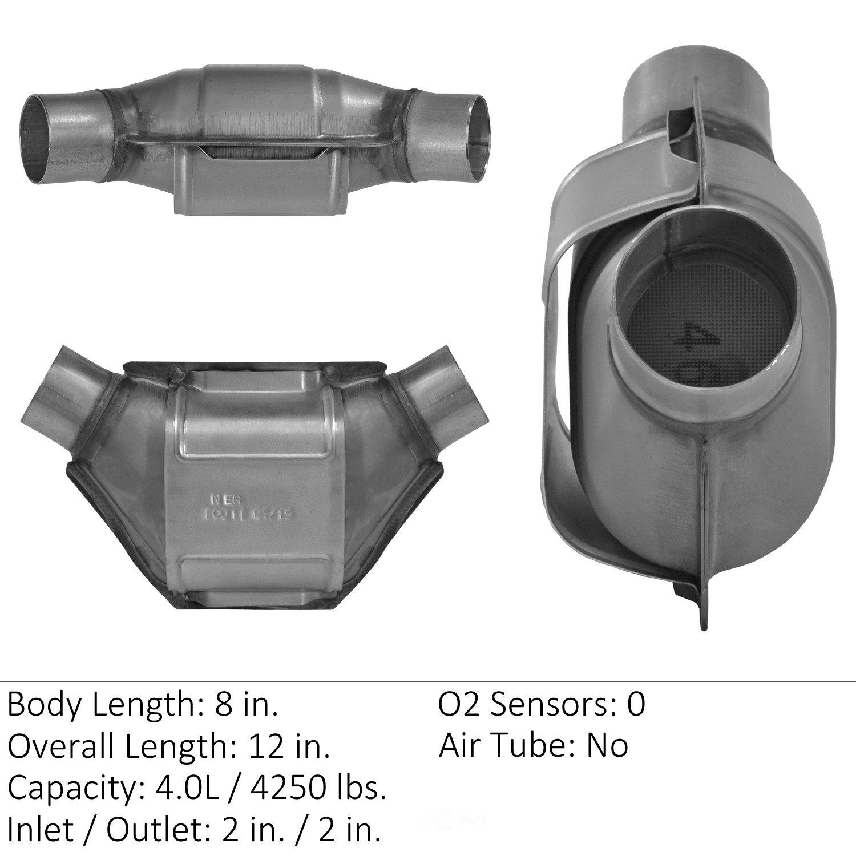 EASTERN CATALYTIC EPA CONVERTER - Universal Catalytic Converter - EMI 70362