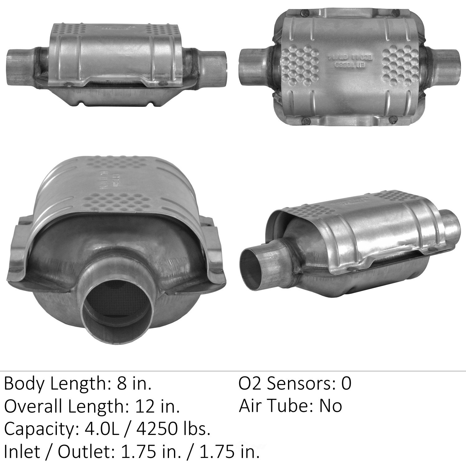 EASTERN CATALYTIC EPA CONVERTER - Universal Catalytic Converter - EMI 70380