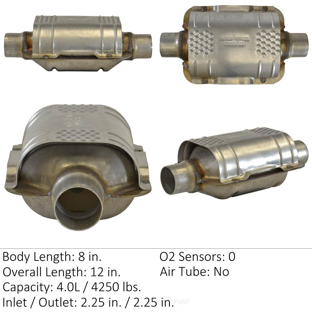 EASTERN CATALYTIC EPA CONVERTER - Universal Catalytic Converter - EMI 70384