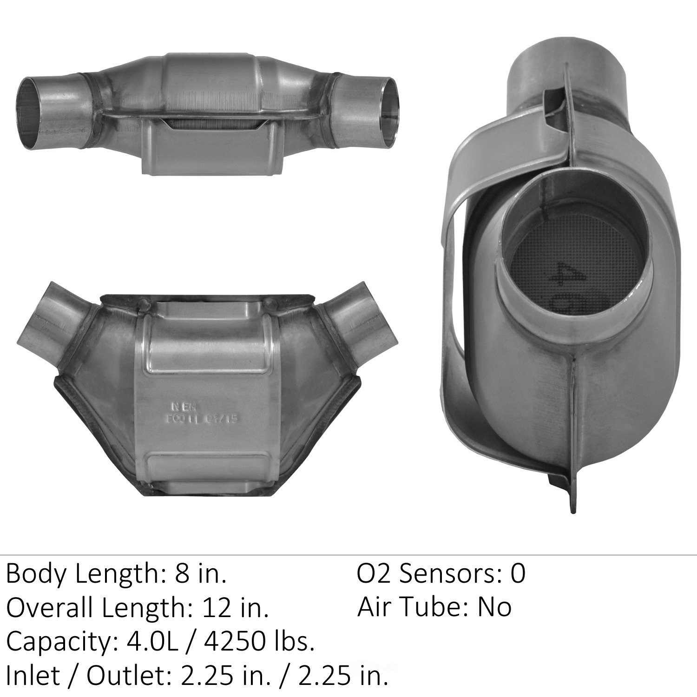 EASTERN CATALYTIC EPA CONVERTER - Universal Catalytic Converter - EMI 83625