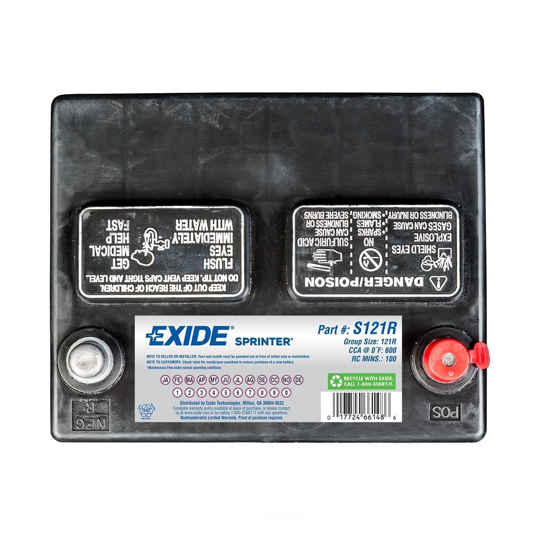 EXIDE BATTERIES - Sprinter - CCA: 600 - EX1 S121R