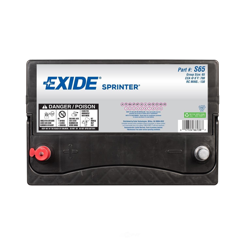 EXIDE BATTERIES - Sprinter - CCA: 700 - EX1 S65
