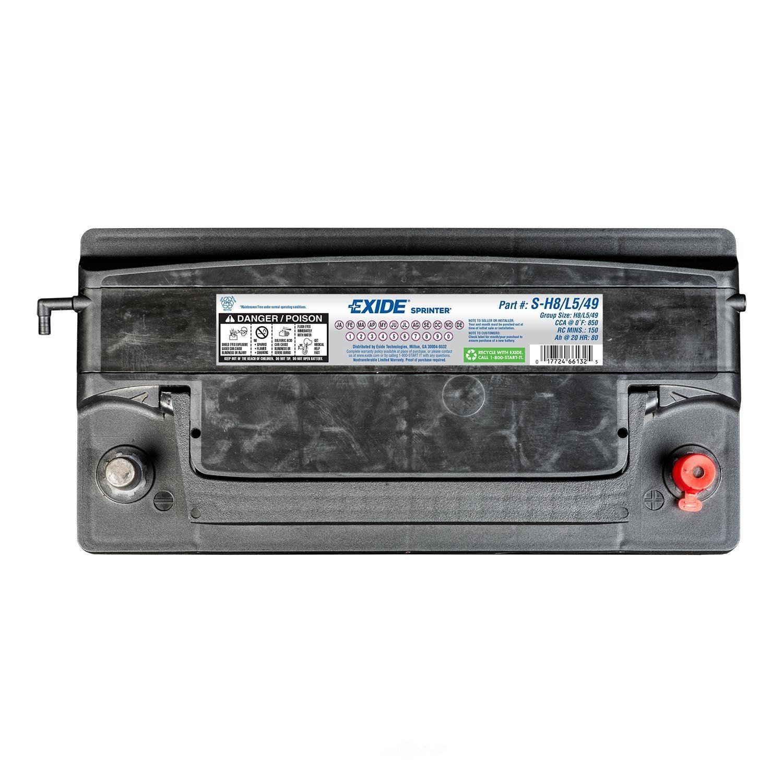 EXIDE BATTERIES - SPRINTER - CCA: 850 - EX1 S-H8/L5/49