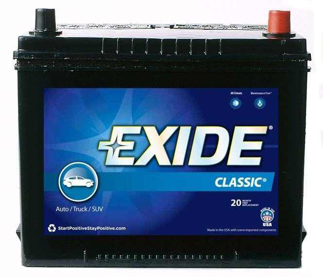 EXIDE BATTERIES OLD - Vehicle Battery - EXB 24FC